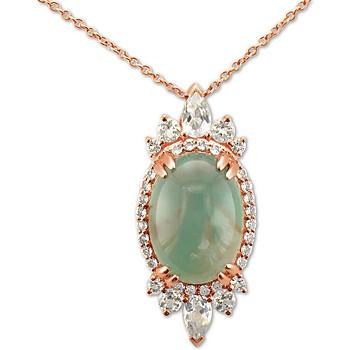 Le Vian Peacock Aquaprase 18 inch Pendant Necklace