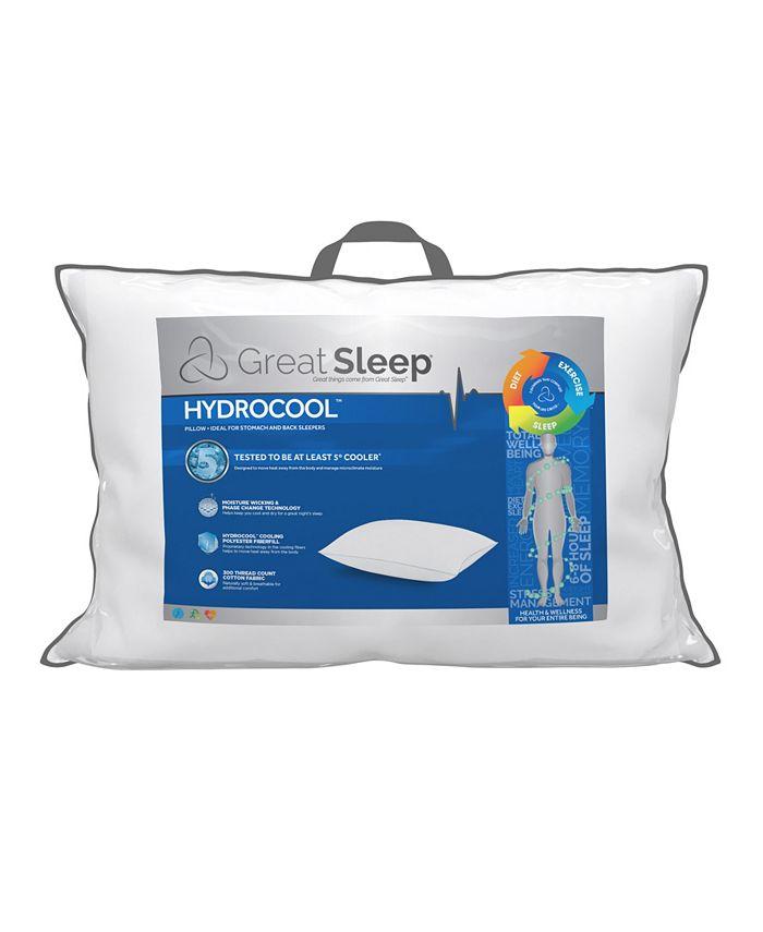"""Great Sleep - 5 Degree Hydrocool 1"""" Standard/Queen Pillow"""