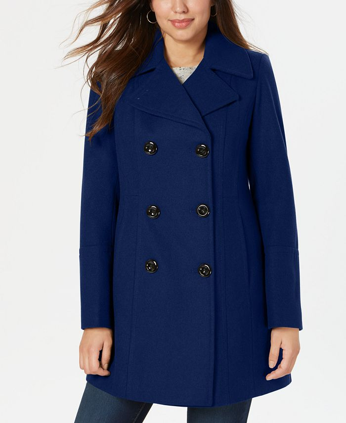 Anne Klein - Petite Double-Breasted Peacoat