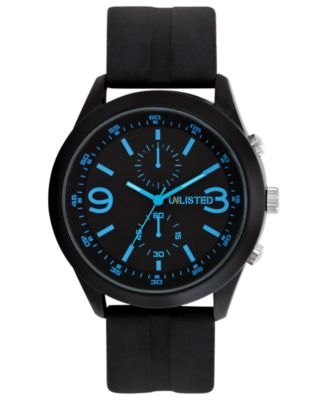 unlisted s chronograph black silicone