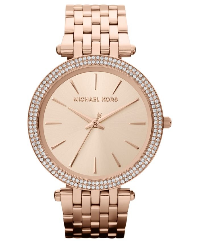 Michael Kors - Women's Darci Rose Gold-Tone Stainless Steel Bracelet Watch 39mm MK3192