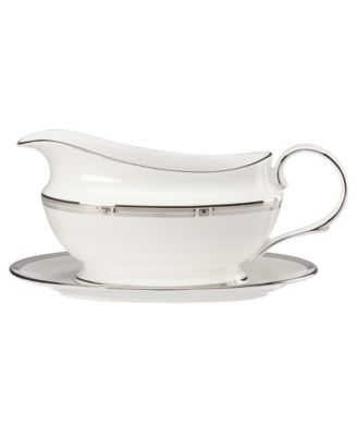 Lenox Westerly Platinum Gravy Boat and Stand