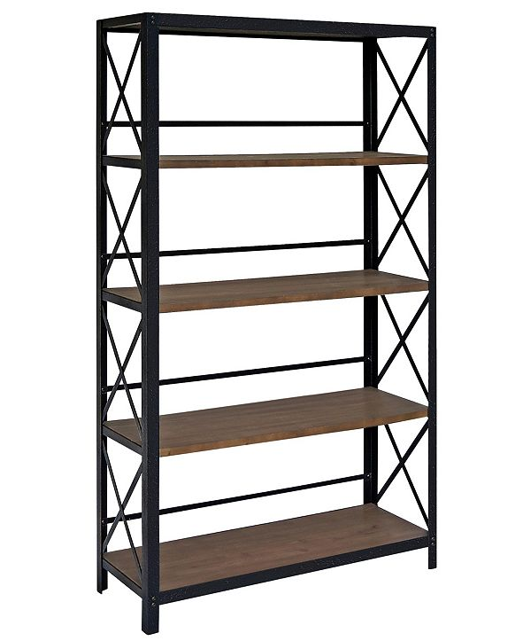 Gallerie Decor Industrial Five Tier Bookshelf