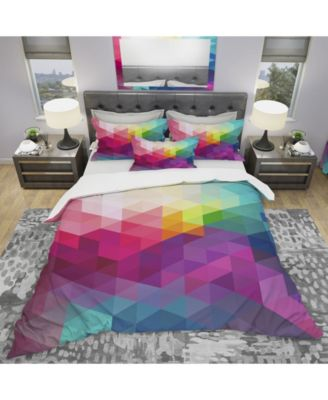 Designart 'Abstract Colorful Pattern' Modern Duvet Cover Set - Queen