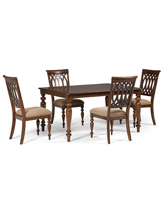 Crestwood Dining Room Furniture 5 Piece Set Dining Table
