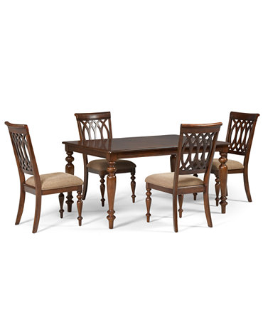 Crestwood Dining Room Furniture 5 Piece Set Dining Table And 4 Side Chairs