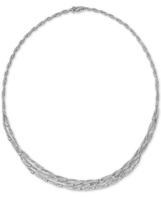 D'Oro by EFFY® Diamond Embellished Necklace (1-5/8 ct. t.w.) in 14k White Gold