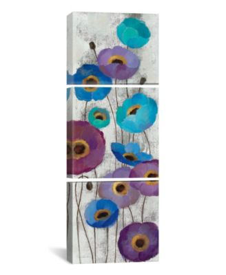 """Bold Anemones Panel Ii by Silvia Vassileva Gallery-Wrapped Canvas Print - 36"""" x 12"""" x 1.5"""""""