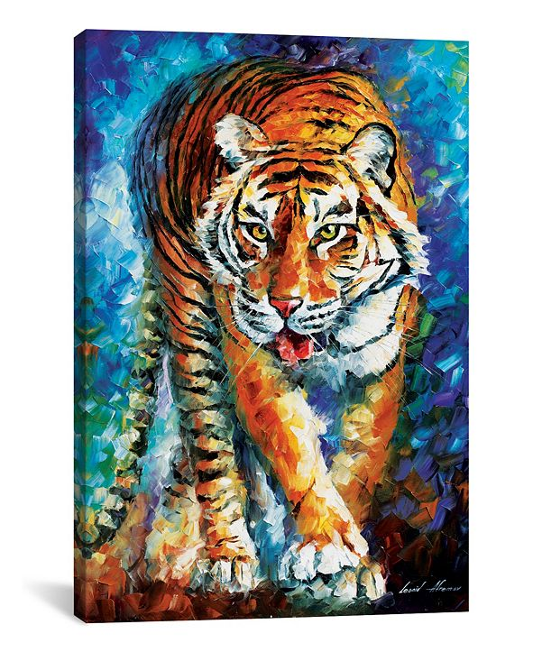 """iCanvas Scary Tiger by Leonid Afremov Gallery-Wrapped Canvas Print - 26"""" x 18"""" x 0.75"""""""