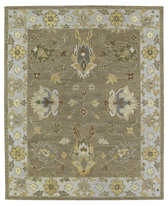 "Kaleen Brooklyn Delaney-03 Mocha 7'6"" x 9' Area Rug"