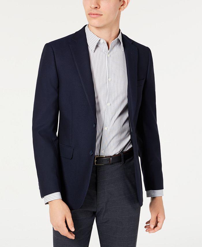 Calvin Klein - Men's Slim-Fit Stretch Textured Sport Coat