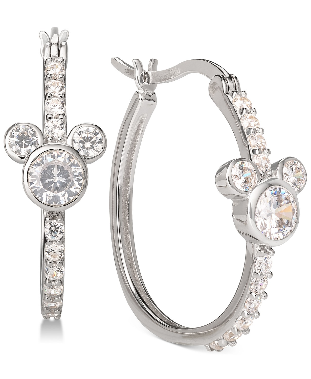 (65% OFF Deal) Mickey Mouse Hoop Earrings in Sterling Silver $70.00