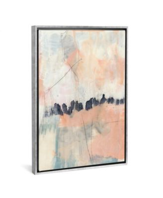 """Blush and Navy Ii by Jennifer Goldberger Gallery-Wrapped Canvas Print - 26"""" x 18"""" x 0.75"""""""