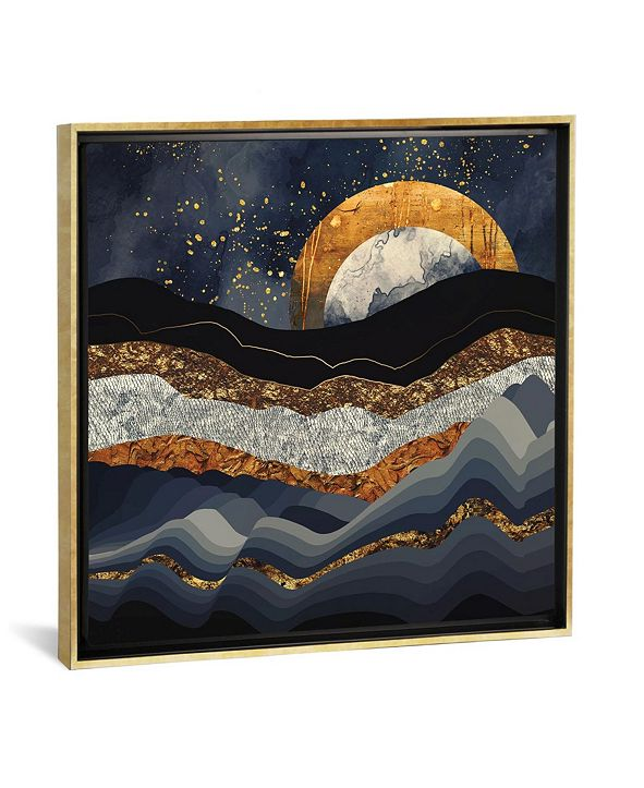 """iCanvas Metallic Mountains by Spacefrog Designs Gallery-Wrapped Canvas Print - 37"""" x 37"""" x 0.75"""""""