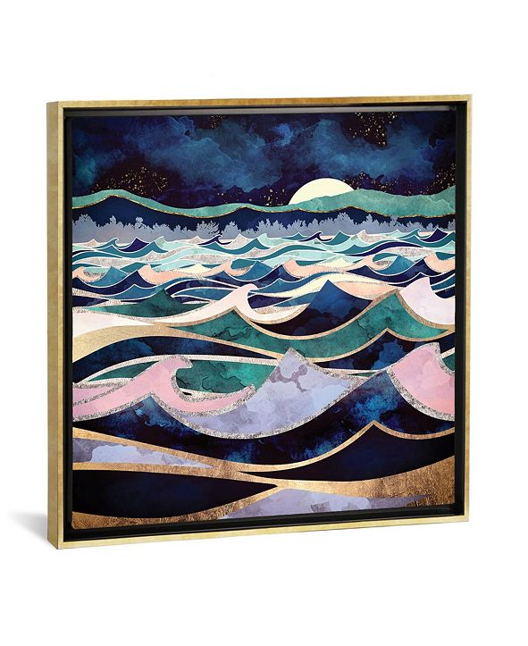 "iCanvas Moonlit Ocean by Spacefrog Designs Gallery-Wrapped Canvas Print - 18"" x 18"" x 0.75"""