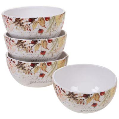 Harvest Splash Ice Cream Bowl, Set of 4