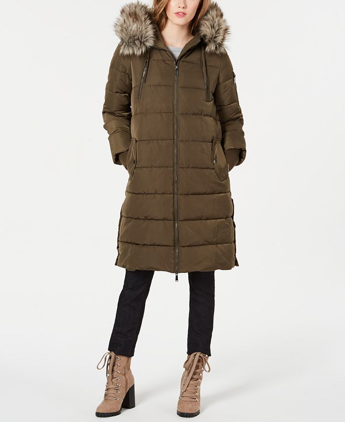 BCBGeneration - Oversized Faux-Fur Hooded Puffer Coat