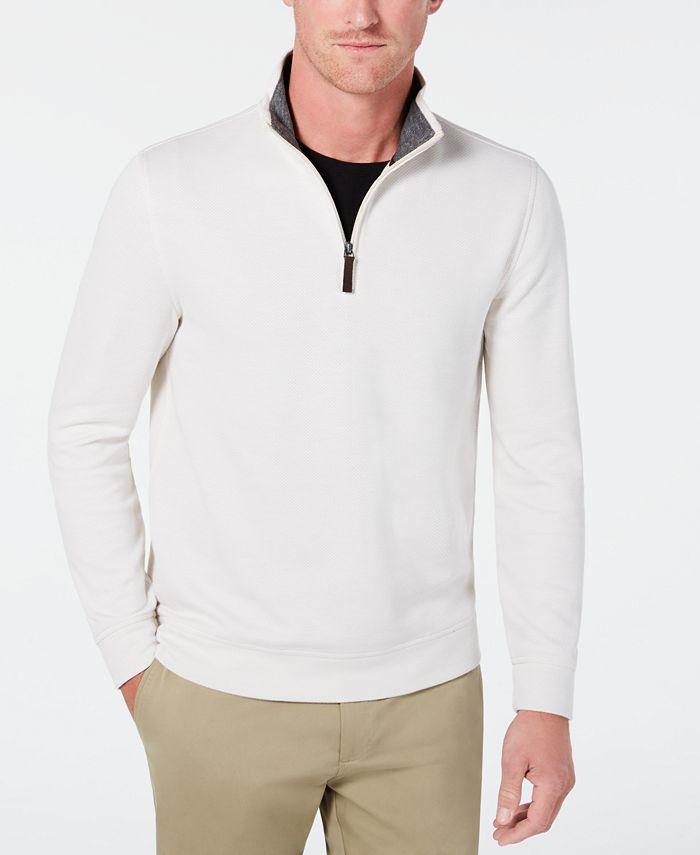 Tasso Elba - Men's 1/4-Zip Sweater