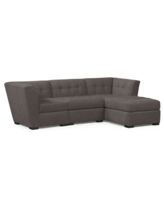 roxanne fabric modular sectional sofa 3 piece square corner armless