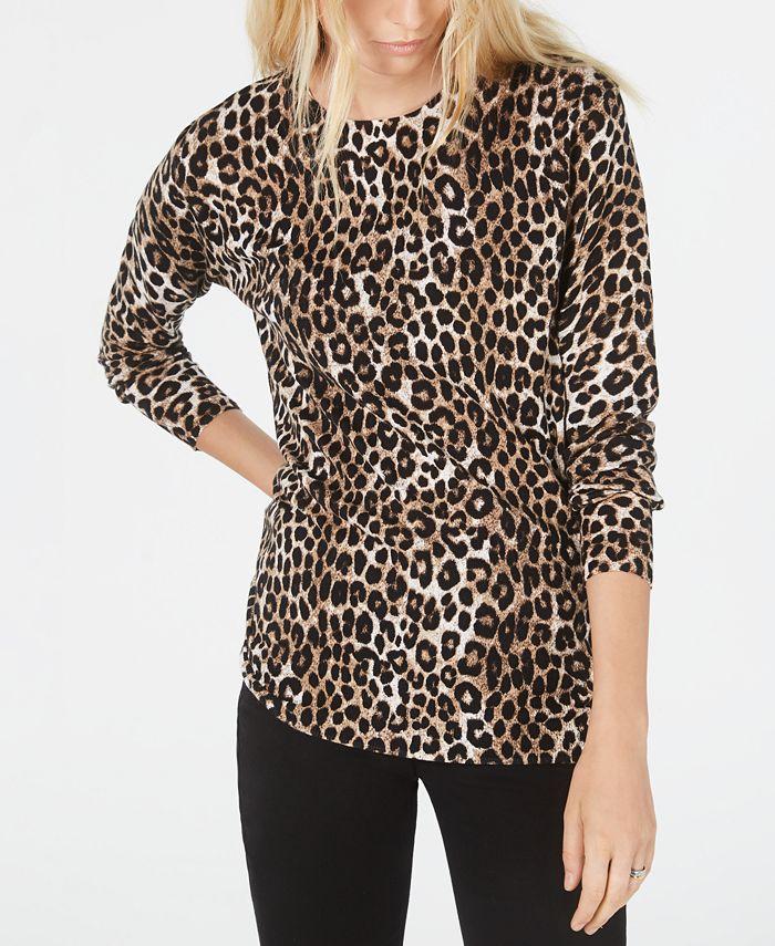 Michael Kors - Cheetah-Print Sweater