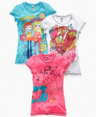Beautees kids t shirt girls 3d graphic festival tee for Graphic t shirts for kids