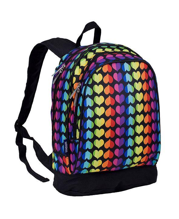 """Wildkin Rainbow Hearts 15"""" Backpack"""