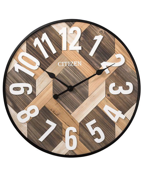 Citizen Gallery Wooden Plank Wall Clock