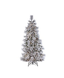 Sterling 7ft. Pre-Lit Lightly Flocked Snowbell Pine with 450 Twinkle Lights