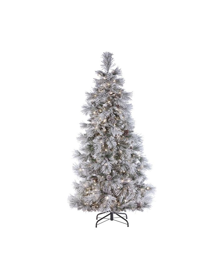 Sterling - 7ft. Pre-Lit Lightly Flocked Snowbell Pine with 450 Twinkle Lights
