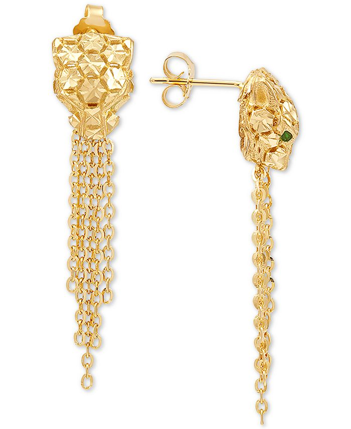 EFFY Collection - Panther Tassel Drop Earrings in 14k Gold