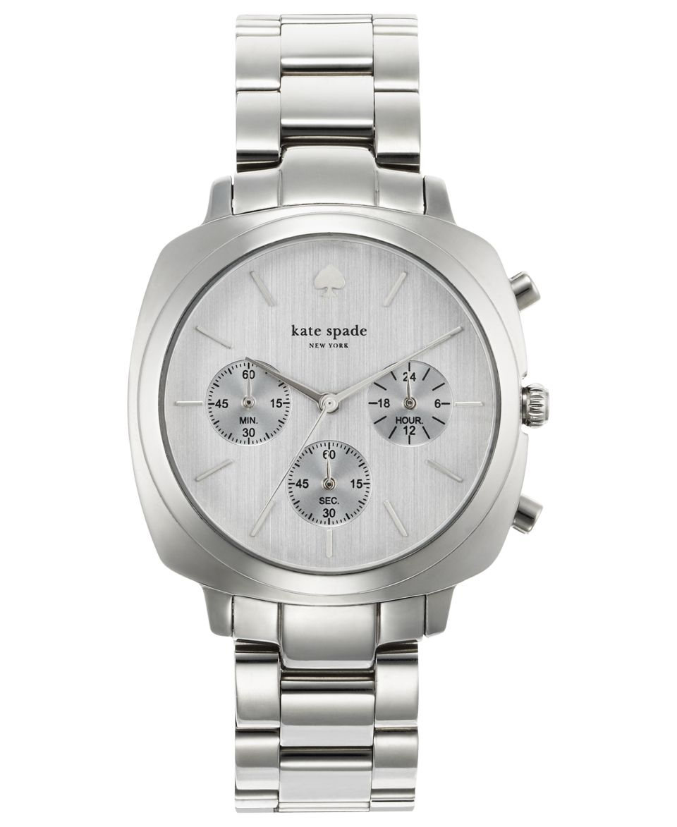 kate spade new york Watch, Womens Chronograph Brookyn Stainless Steel Bracelet 38mm 1YRU0099   Watches   Jewelry & Watches