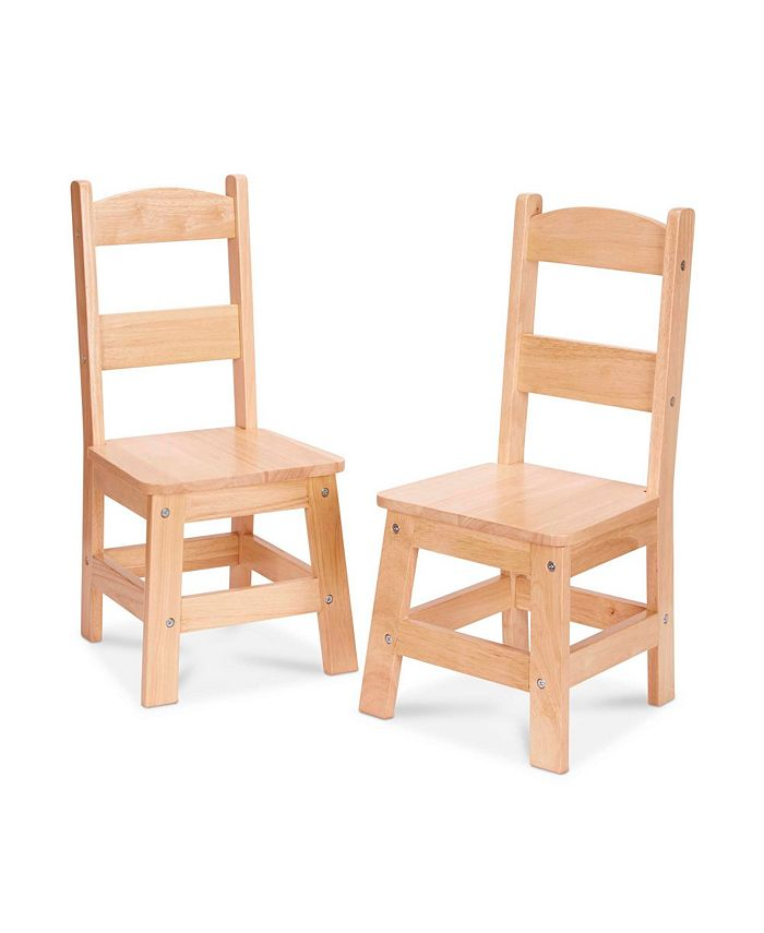 Melissa and Doug - Wooden Chair Pair - Natural