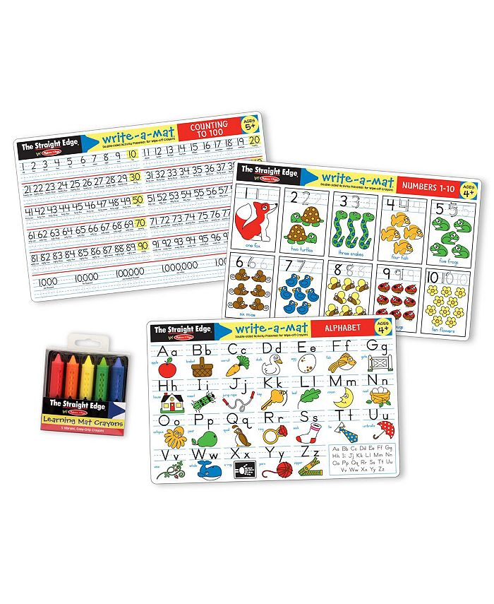 Melissa and Doug - Alphabet / Numbers Placemat Bundle