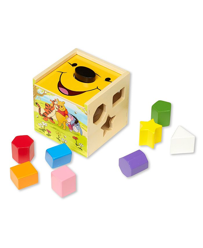 Melissa and Doug - Winnie the Pooh Wooden Shape Sorting Cube