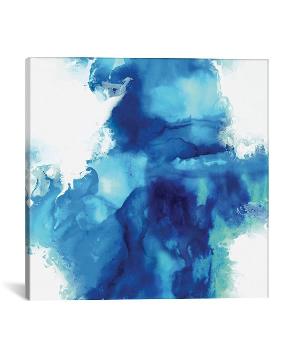 """iCanvas Ascending In Blue I by Daniela Hudson Wrapped Canvas Print - 18"""" x 18"""""""