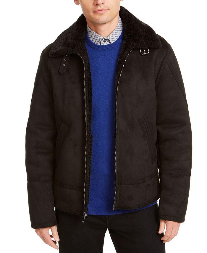 Calvin Klein - Men's Faux Short Shearling Jacket