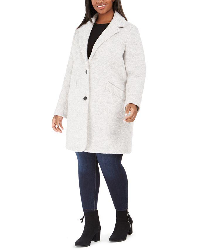 Marc New York - Plus Size Paige Boucle Coat
