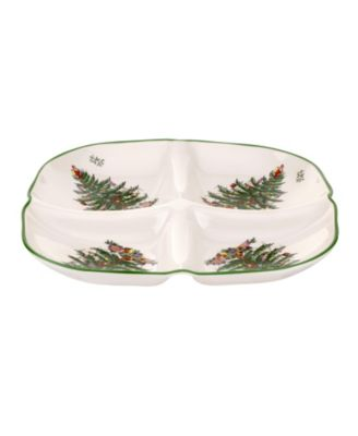 CLOSEOUT! Christmas Tree Sculpted 4-Section Tray