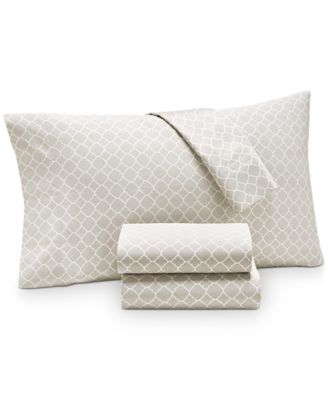 Printed Geo Twin 3-pc Sheet Set, 500 Thread Count, Created for Macy's