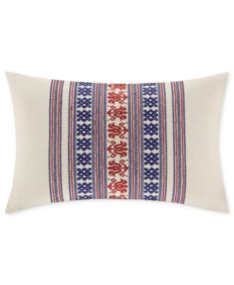 "Echo Bedding, Cozumel Embroidered 12"" x 18"" Decorative Pillow"