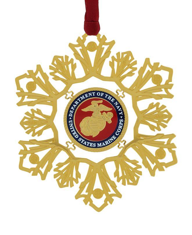 ChemArt U.S. Marine Corps Snowflake Ornament