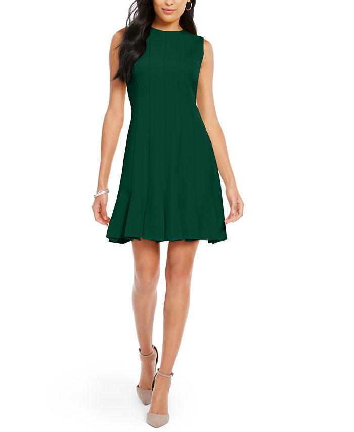 julia jordan - Pleated-Hem Fit & Flare Dress