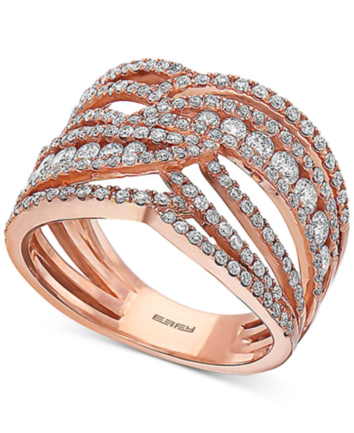 EFFY Collection - Diamond Openwork Statement Ring (1-1/3 ct. t.w.) in 14k Rose Gold