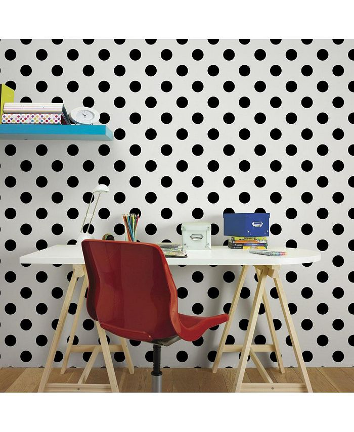 Graham & Brown - Dotty Black Wallpaper