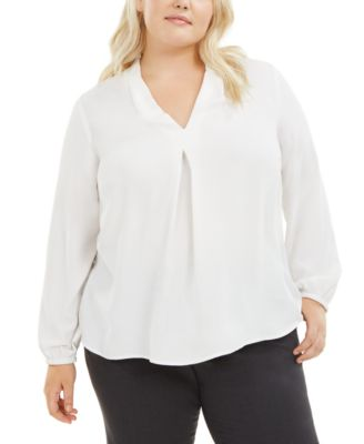 Trendy Plus Size V-Neck Blouse, Created for Macy's