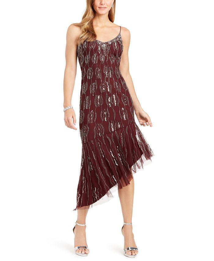 Adrianna Papell - Beaded Asymmetrical Dress