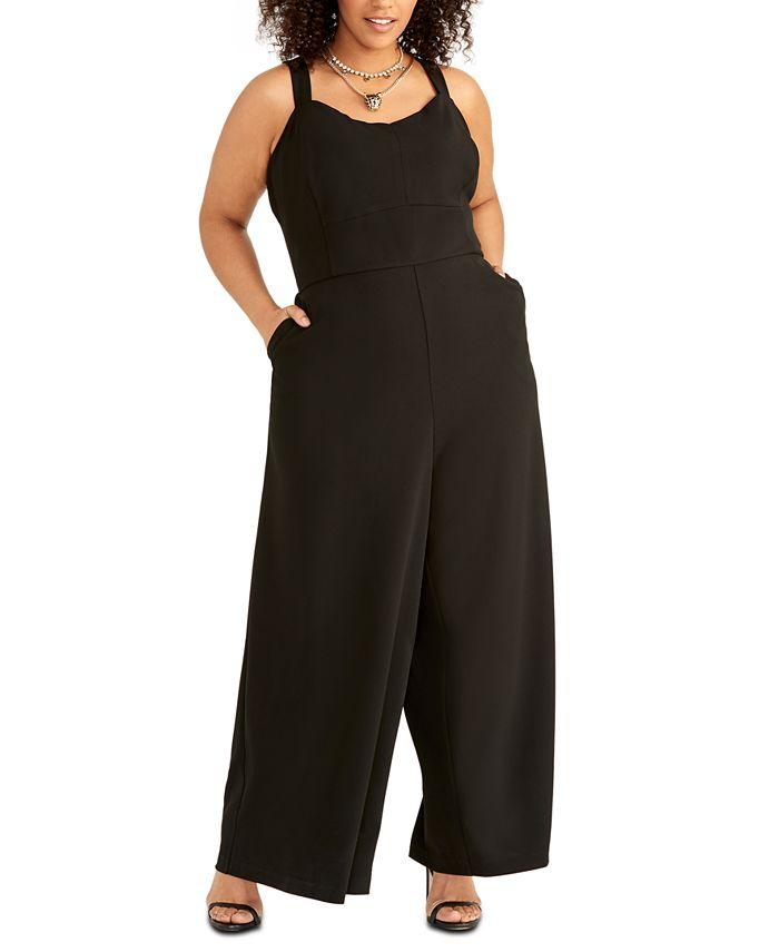 RACHEL Rachel Roy - Plus Size Wide-Leg Jumpsuit