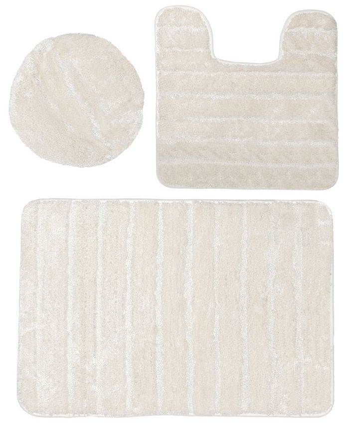 Sobel Westex Luxury Nylon 3 Piece Bath Rug Set Reviews Rugs Mats Bed Macy S