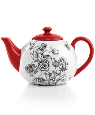 Certified International Drinkware, Toile Teapot