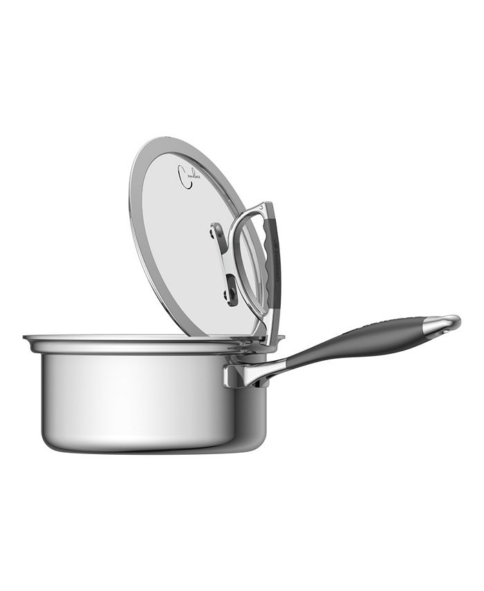 CookCraft - 3 Quart Sauce Pan with Glass Latch Lid